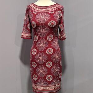 Max Studio half-sleeve print dress
